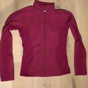 Lululemon burgundy full zip track jacket